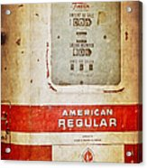 American Standard - Vintage Fuel Pump - Casper Wyoming Acrylic Print