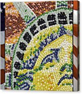 American Statue Of Liberty Mosaic  Acrylic Print