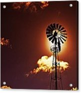 American Windmill Acrylic Print by Marco Oliveira