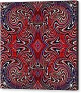 Americana Swirl Banner 1 Acrylic Print