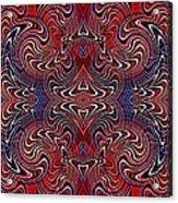 Americana Swirl Banner 3 Acrylic Print