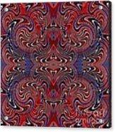 Americana Swirl Design 2 Acrylic Print