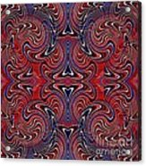 Americana Swirl Design 3 Acrylic Print