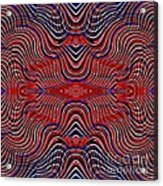 Americana Swirl Design 9 Acrylic Print