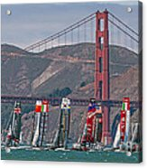 Americas Cup Catamarans At The Golden Gate Acrylic Print