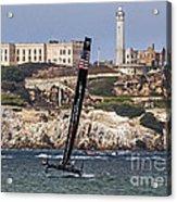 Americas Cup Oracle Team And Alcatraz Acrylic Print
