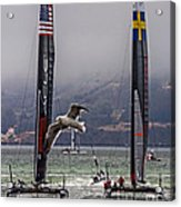 Americas Cup Oracle Team Usa V Artemis Racing Acrylic Print
