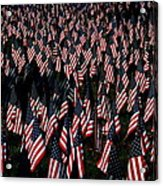 Field Of Flags - Sturbridge Mass. Acrylic Print