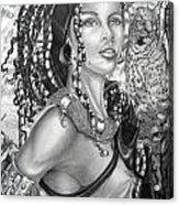 Amerikan Woman Acrylic Print