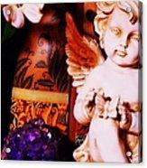 Amethyst Angel Acrylic Print