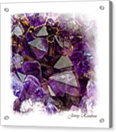 Amethyst Crystals. Elegant Knickknacks From Jenny Rainbow Acrylic Print