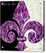 Amethyst Fleur De Lis Acrylic Print
