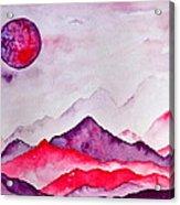 Amethyst Range Acrylic Print