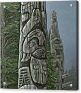 Amid The Mist - Totems Acrylic Print by Elaine Booth-Kallweit