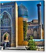 Amir Temur Mausoleum Uzbekistan Acrylic Print