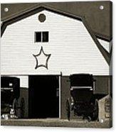 Amish Barn And Buggies Acrylic Print