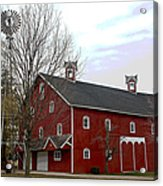 Amish Barn And Wind Mill - Allen County Indiana Acrylic Print