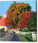 Amish Barn In Autumn Acrylic Print