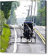 Amish Buggy In Lancaster County Pa. Acrylic Print