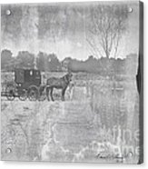 Amish Buggy In Old Book Acrylic Print