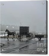 Amish  Buggy Winter Day Acrylic Print