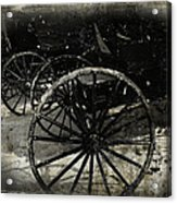 Amish Cart Wheels Grunge Acrylic Print