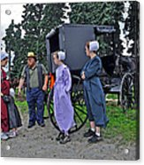 Amish Family Travelers Acrylic Print