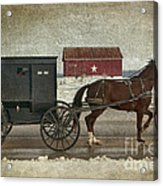 Amish Horse And Buggy And The Star Barn Acrylic Print
