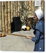 Amish Making Apple Butter Acrylic Print