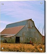 Amish Metal Barn Acrylic Print