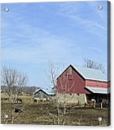 Amish Panorama Acrylic Print