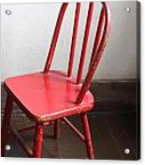 Amish Red Chair Acrylic Print