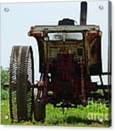 Amish Tractor Acrylic Print