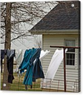 Amish Washday - Allen County Indiana Acrylic Print