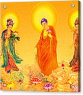 Amitabha And Two Bodhisattvas Acrylic Print