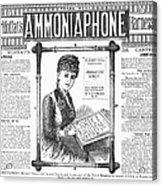 Ammoniaphone, 1885 Acrylic Print
