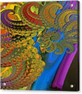 Ammonite 4 Acrylic Print by Soumya Bouchachi