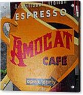 Amocat Cafe Acrylic Print
