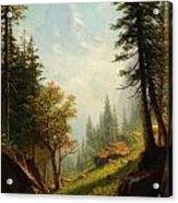Among The Bernese Alps Acrylic Print