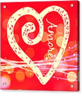 Amore Acrylic Print