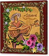 Amore - Musician Version Acrylic Print by Bedros Awak