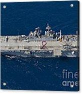 Amphibious Assault Ship Uss Bonhomme Acrylic Print