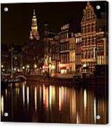 Amsterdam At Night Acrylic Print