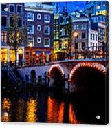 Amsterdam At Night II Acrylic Print