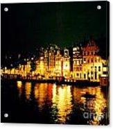 Amsterdam At Night Three Acrylic Print by John Malone