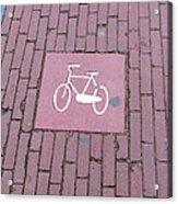 Amsterdam Bicycle Lane Acrylic Print