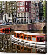 Amsterdam Canal And Houses Acrylic Print