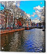 Amsterdam Canal In Spring Acrylic Print