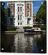 Amsterdam Canal Mansions - Bright White Symmetry  Acrylic Print
