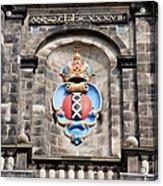 Amsterdam Coat Of Arms On Westerkerk Tower Acrylic Print